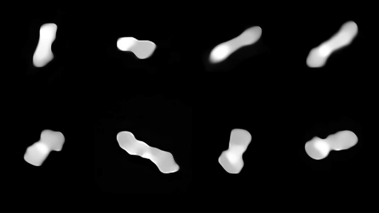 """ESO images """"dog bone"""" asteroid called Kleopatra in detail"""