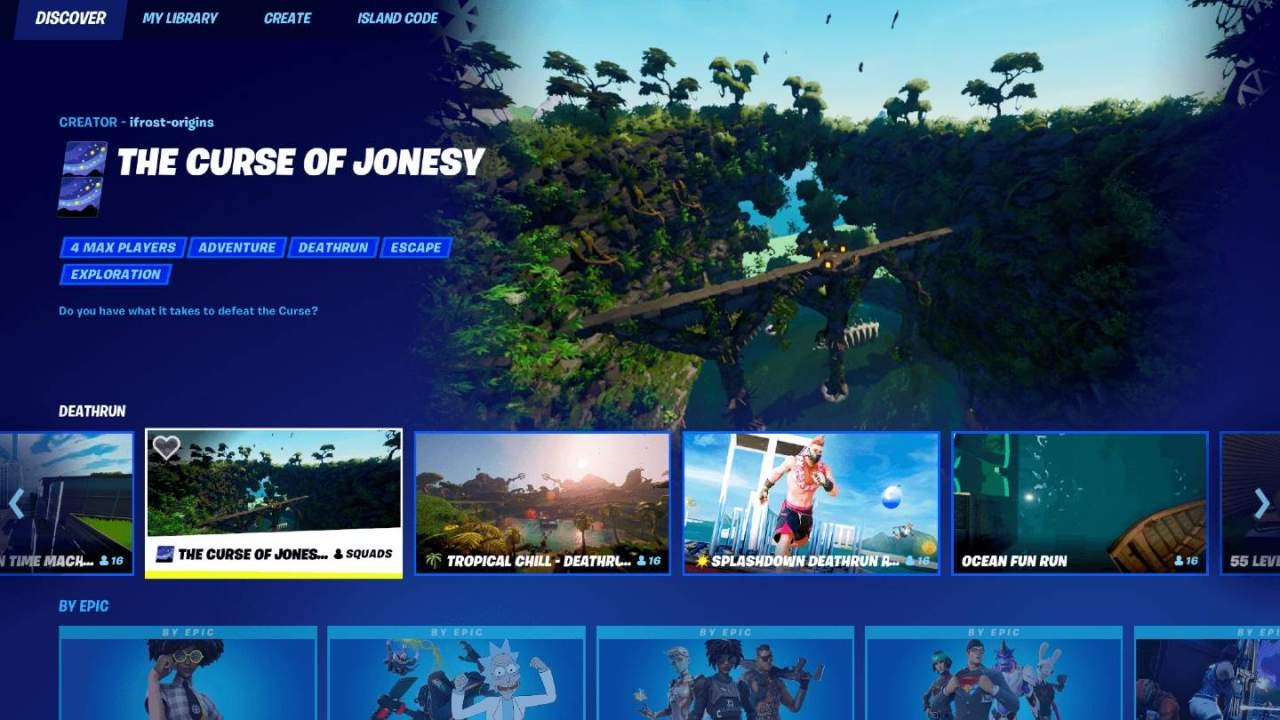 Fortnite's big UI redesign makes it easier to find non-battle royale games