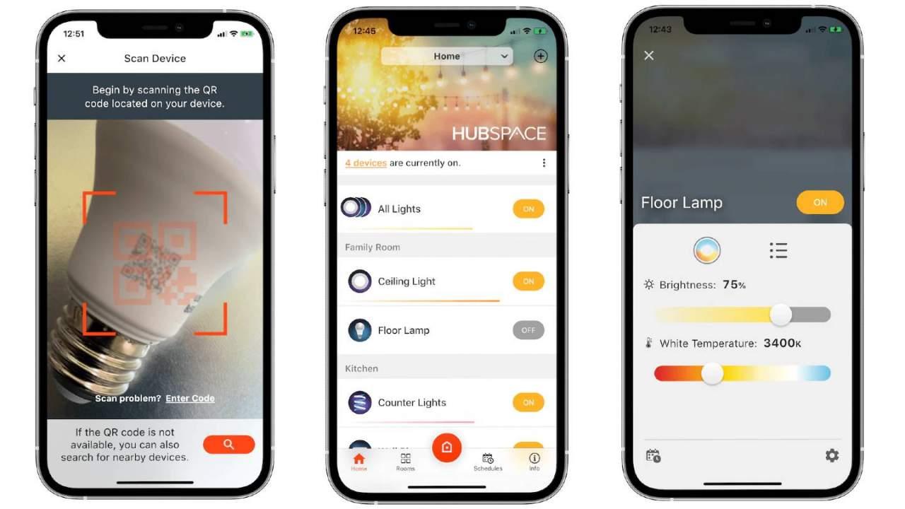 Home Depot Hubspace app simplifies the smart home setup process