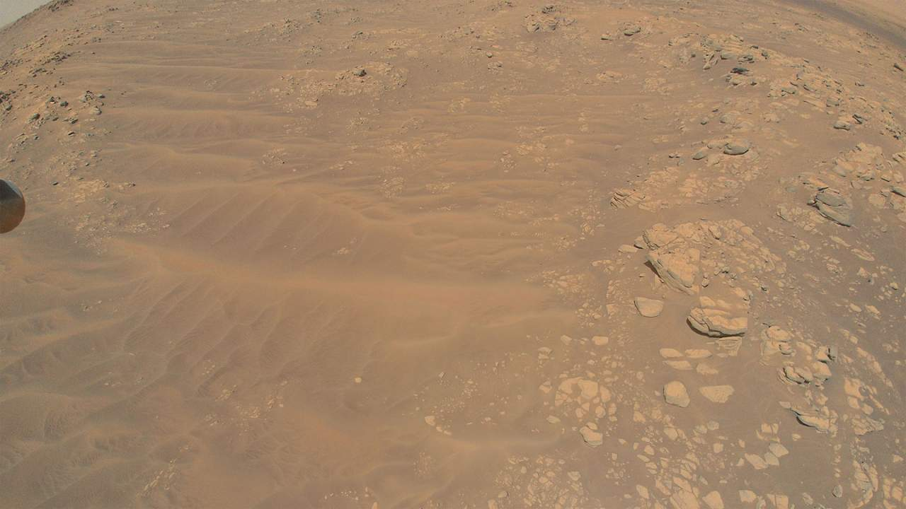 Mars Ingenuity helicopter flew low for its 13th flight