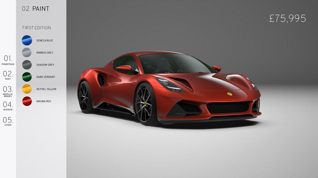 Lotus Emira V6 First Edition starts at £75,995