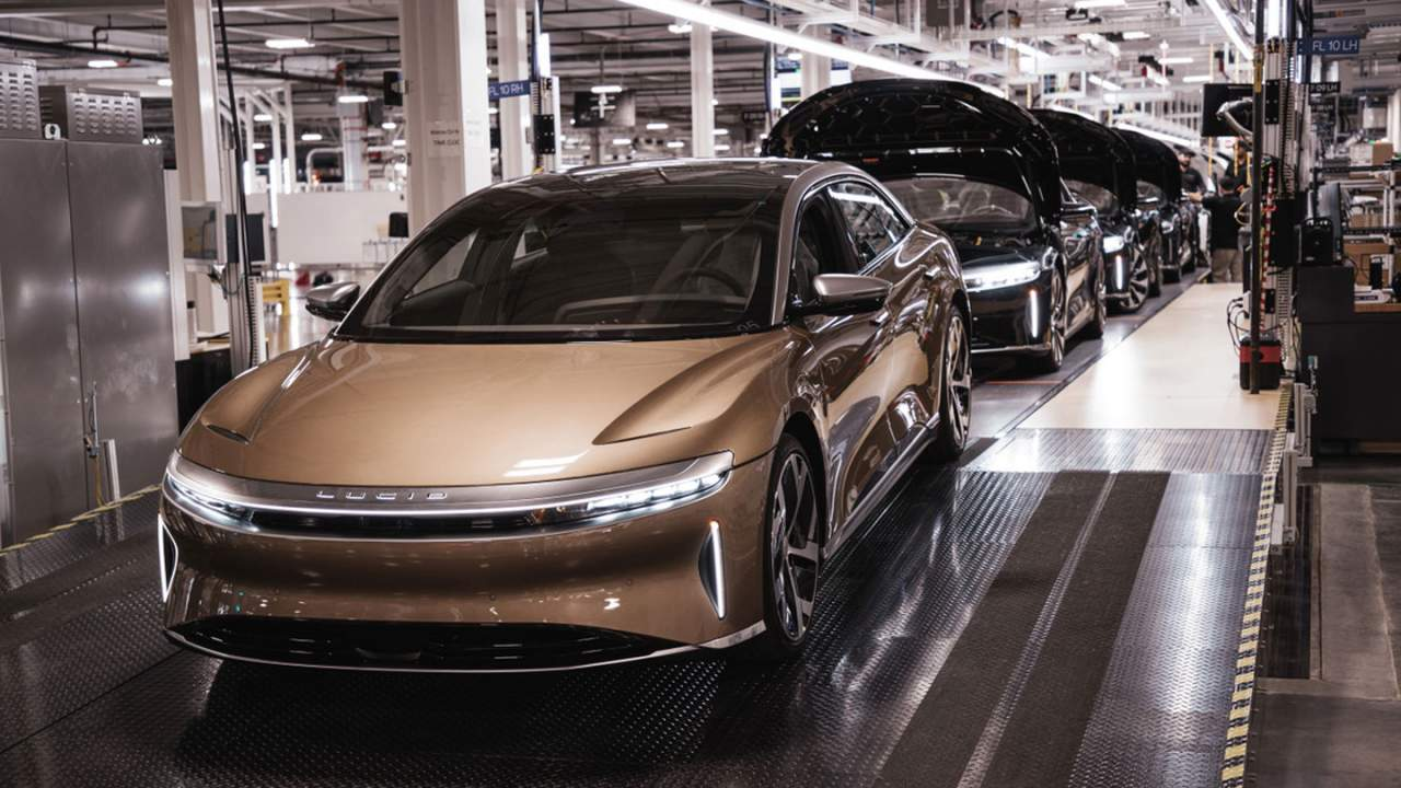 Lucid Air EV production is underway with deliveries in October