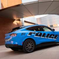 Ford reveals the Mustang Mach-E EV for police testing