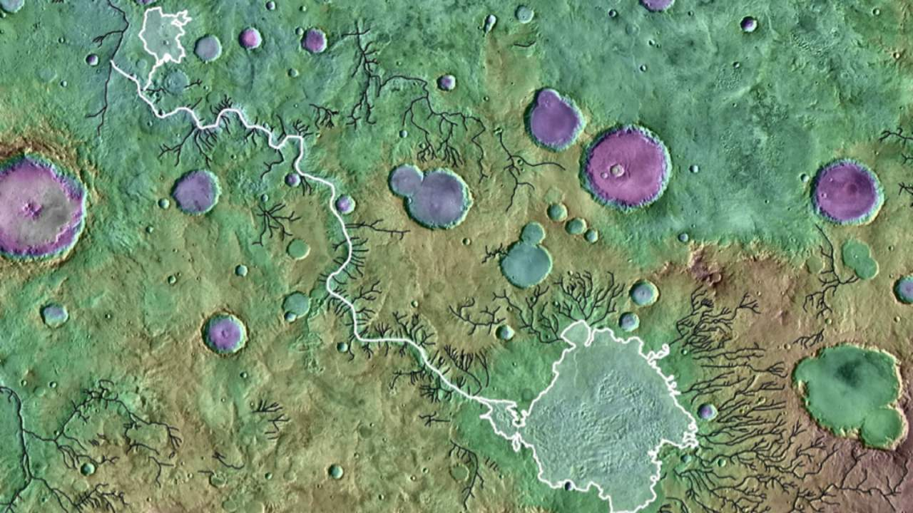 Floods from overflowing crater lakes sculpted the Martian surface