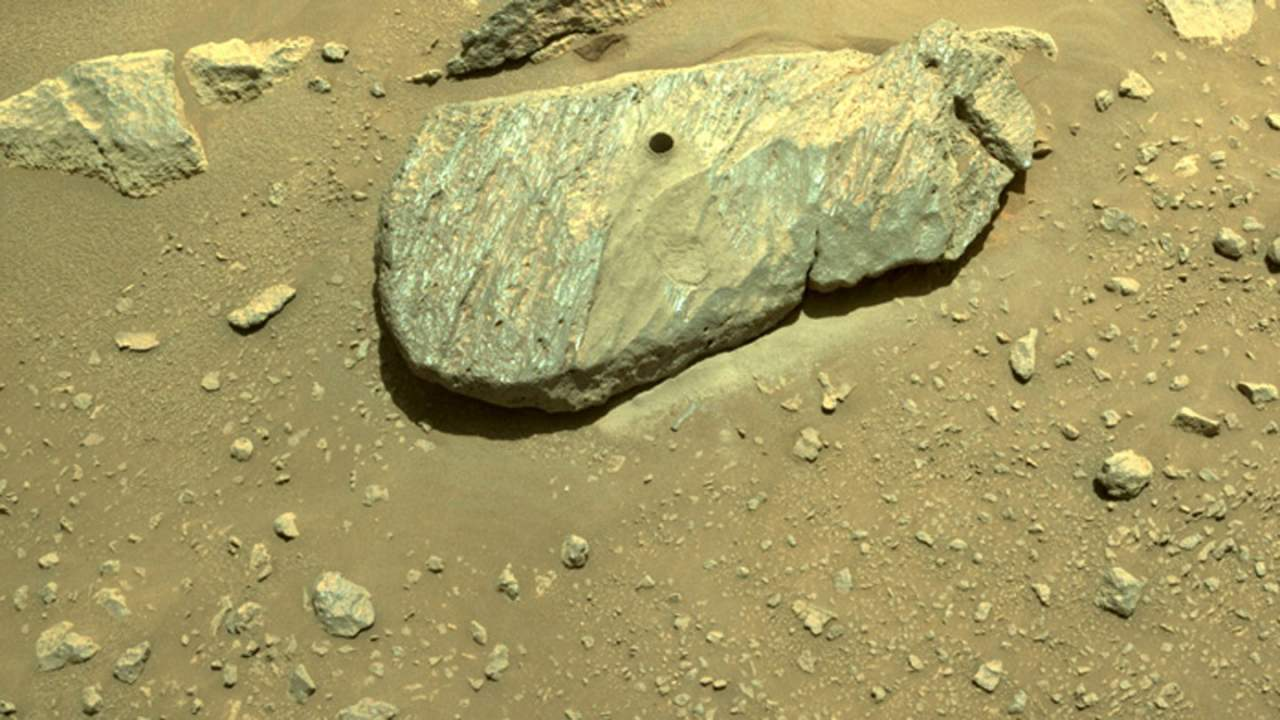 Perseverance collects its first rock core sample on Mars