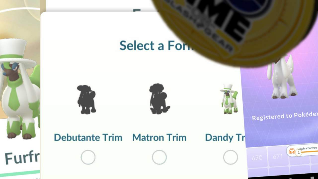 Pokemon GO Furfrou Fashion Forms and trade trick