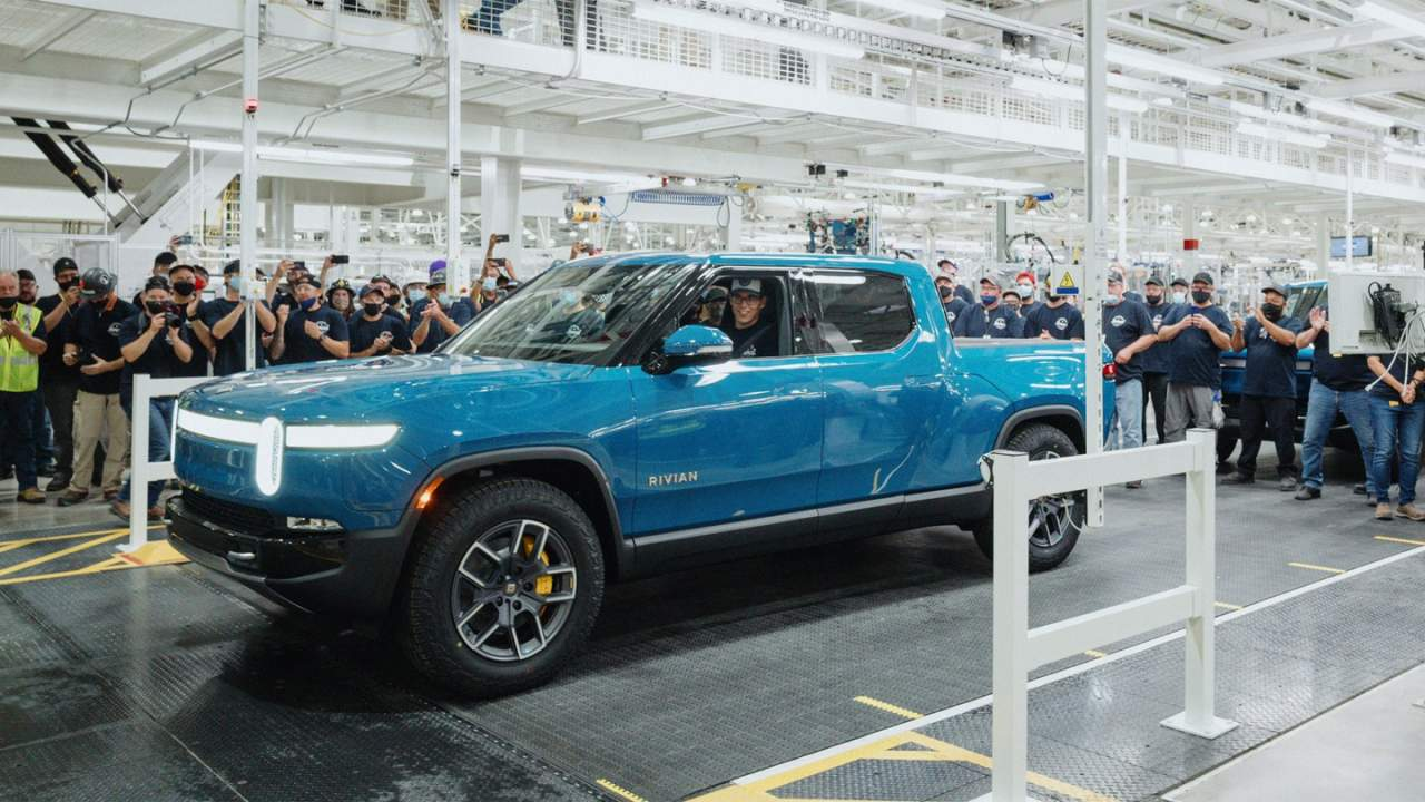 Rivian's first customer vehicle rolls off the assembly line