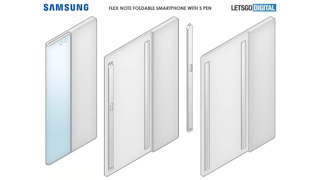 Galaxy Flex Note patent has an ingenious idea for storing the S Pen