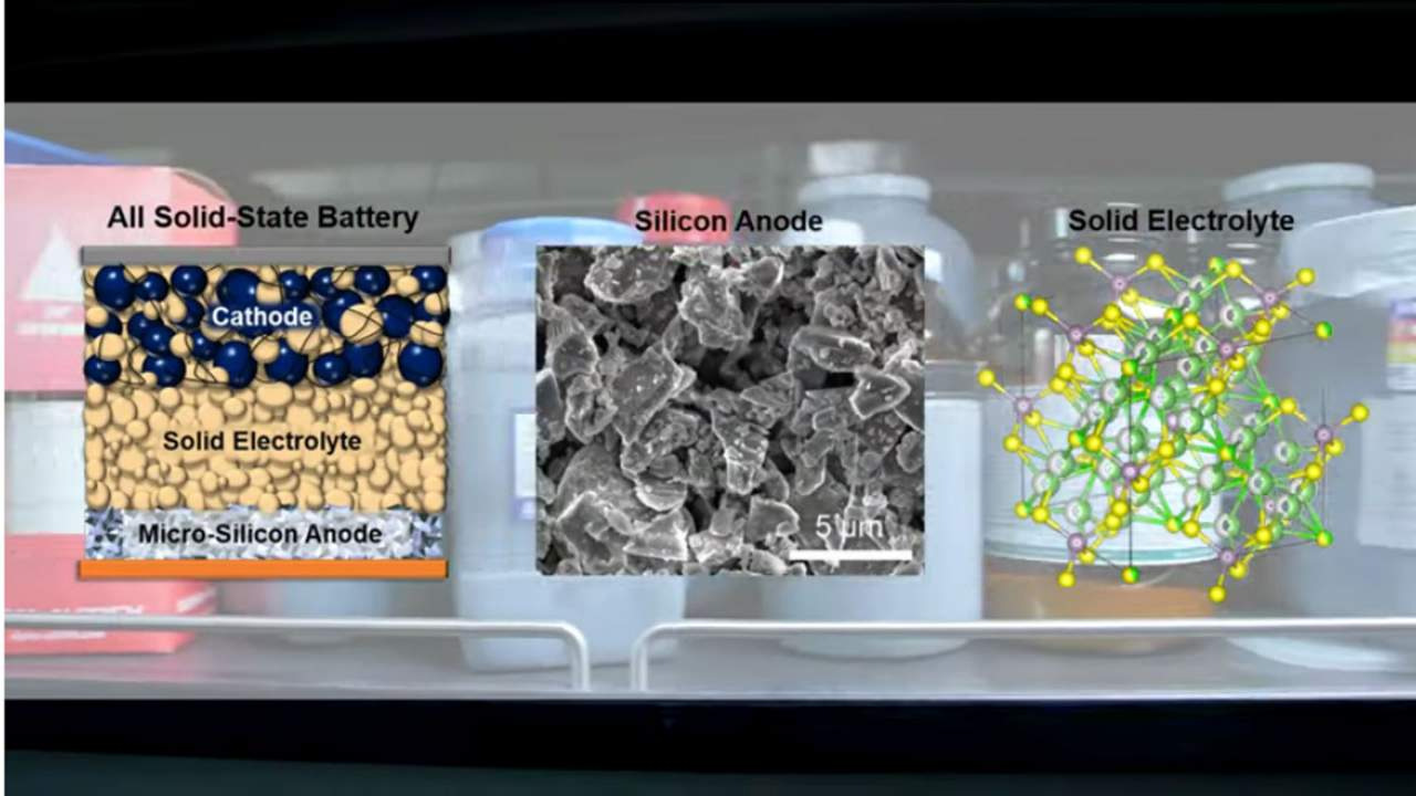 New solid-state battery uses a pure-silicon anode