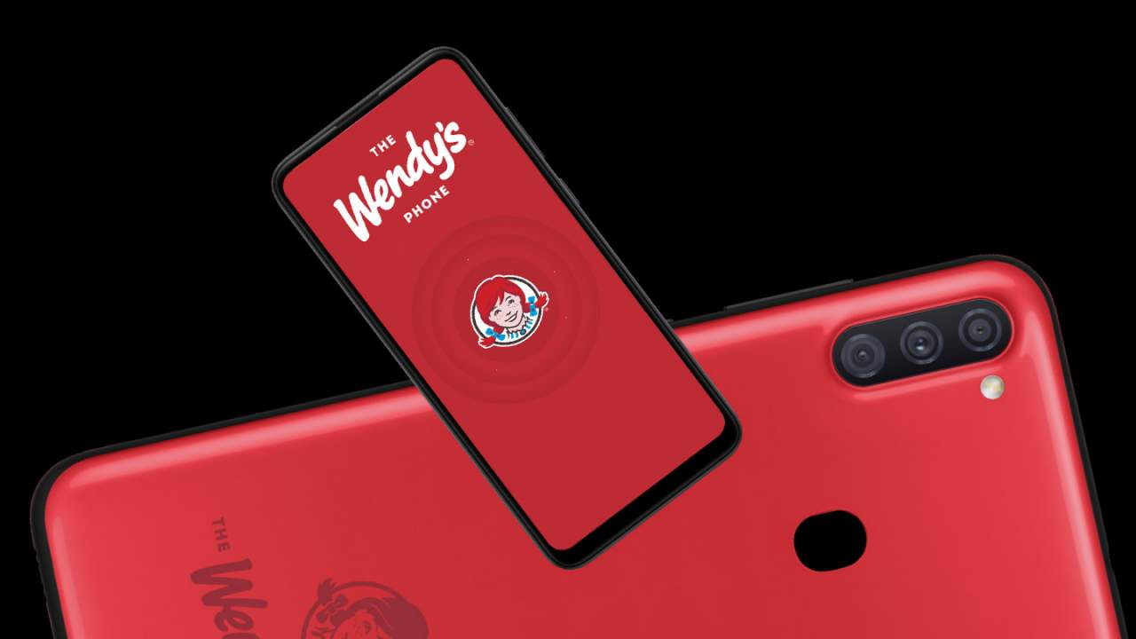 Wendy's restaurant has its own phone now, with Wendy inside