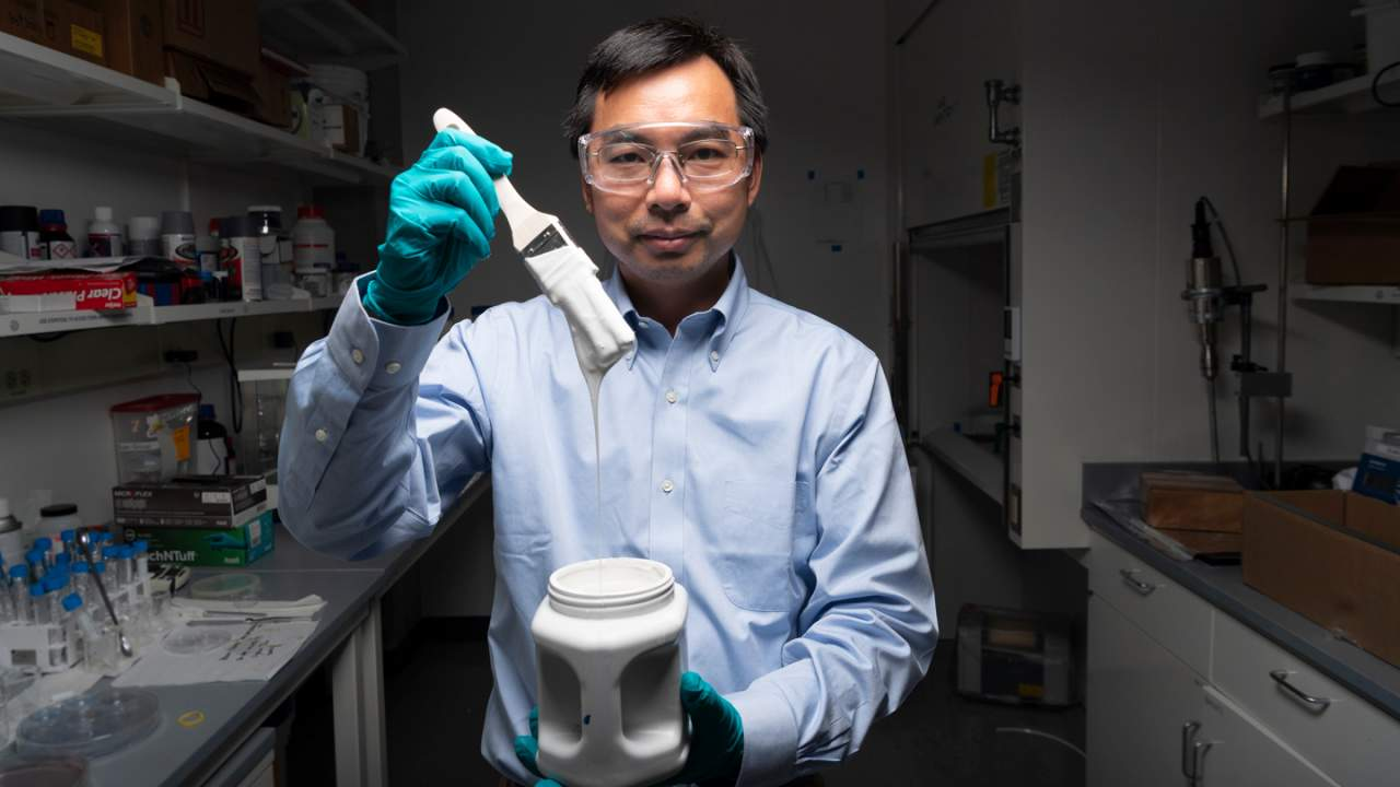 Purdue researchers set a record for the whitest paint ever