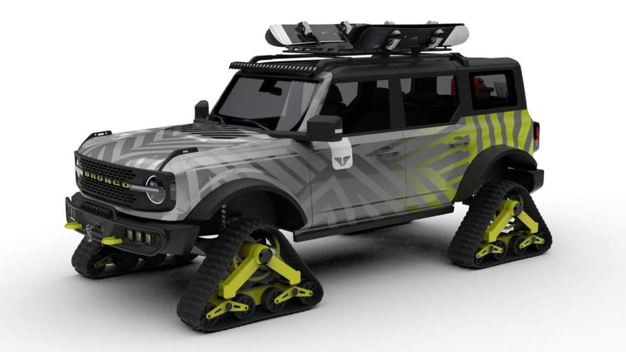 This SEMA Ford Bronco on tank tracks has us obsessed