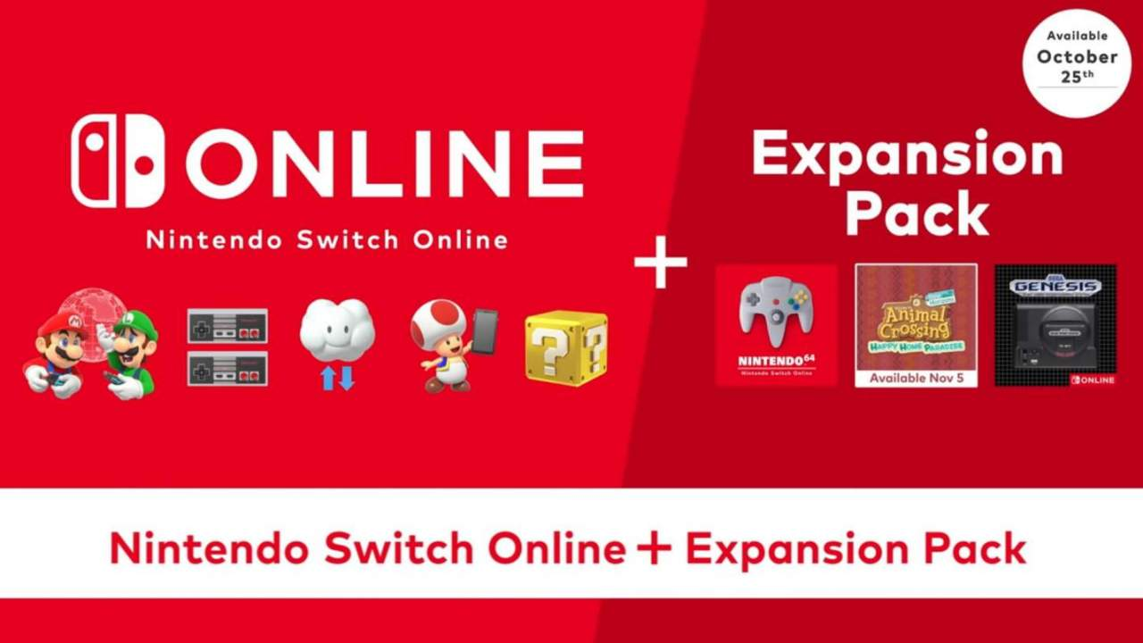 Nintendo Switch Online Expansion Pack price is a big hike over standard subscription
