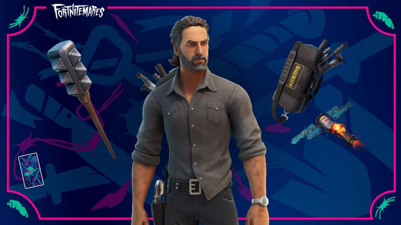 The Walking Dead crossover brings Rick Grimes to Fortnite