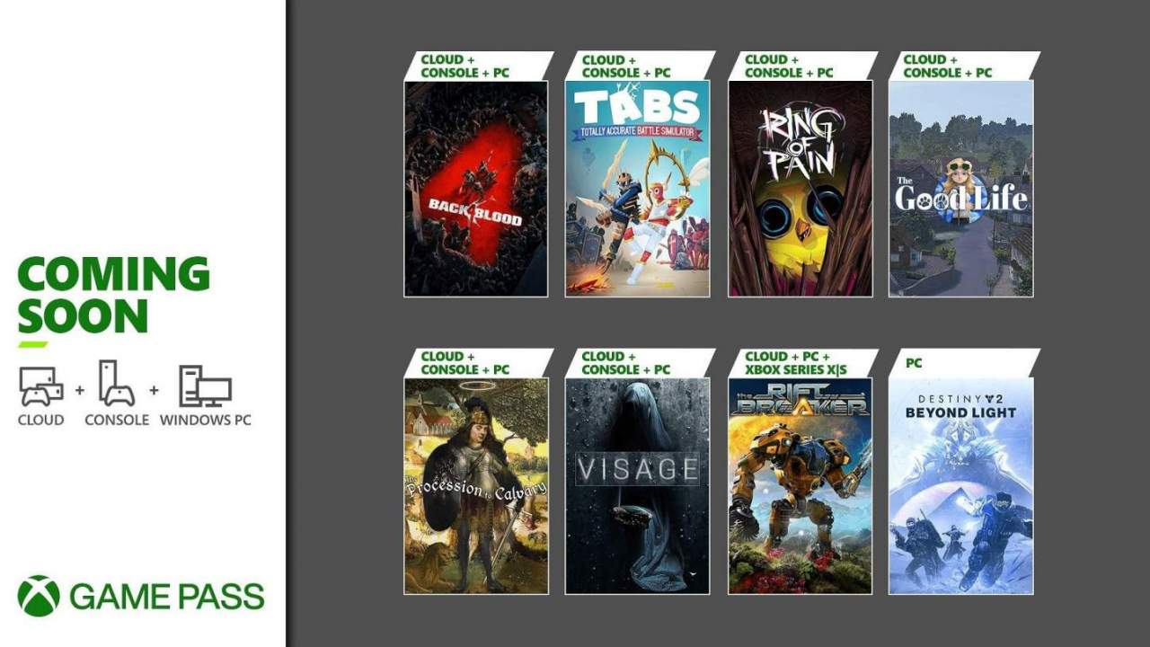 Xbox Game Pass kicks off October with Back 4 Blood and Destiny 2: Beyond Light