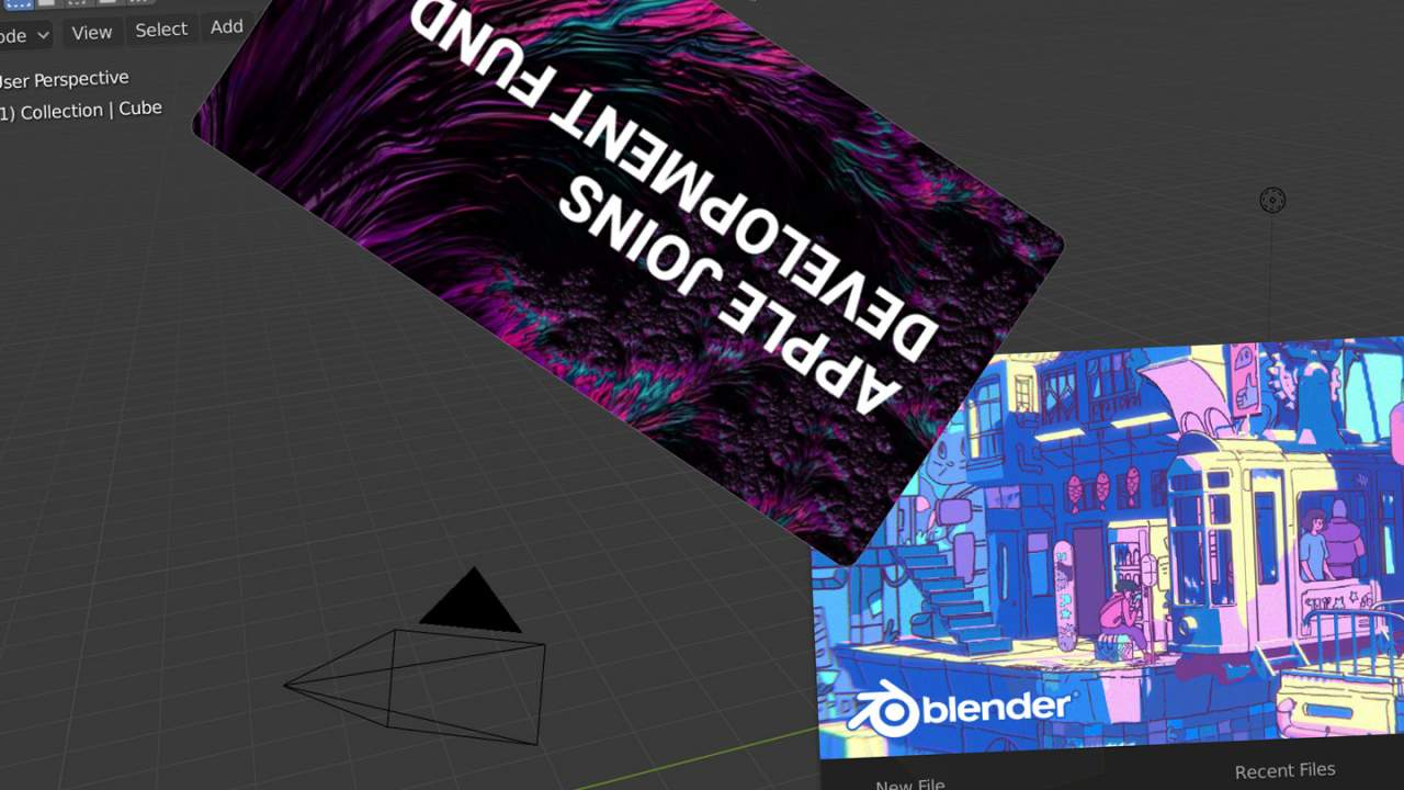 Blender 3D tool now supported by Apple