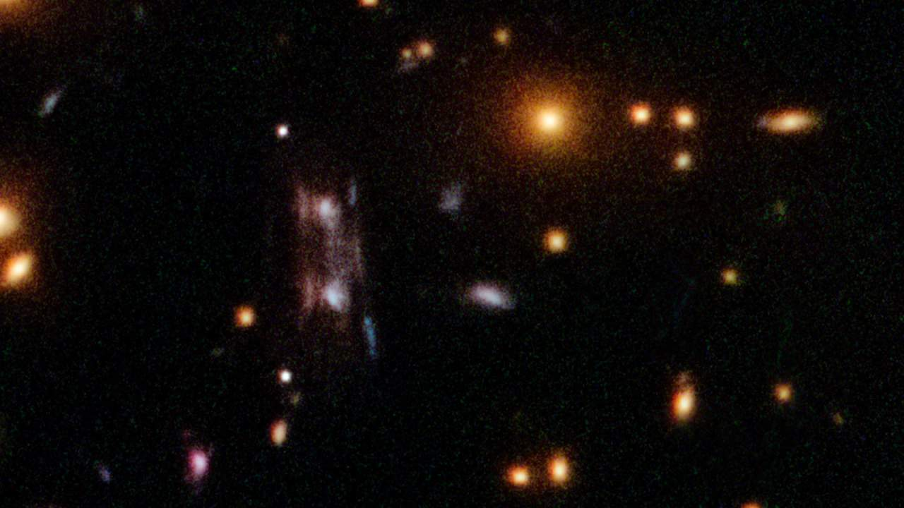 Astronomers discovered a distant galaxy using gravitational lensing