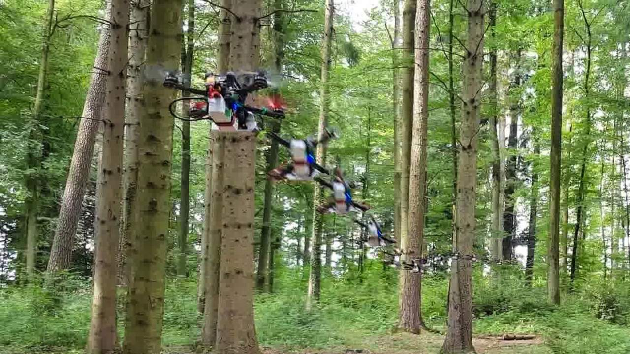 AI allows drones to fly at high speeds in unknown environments
