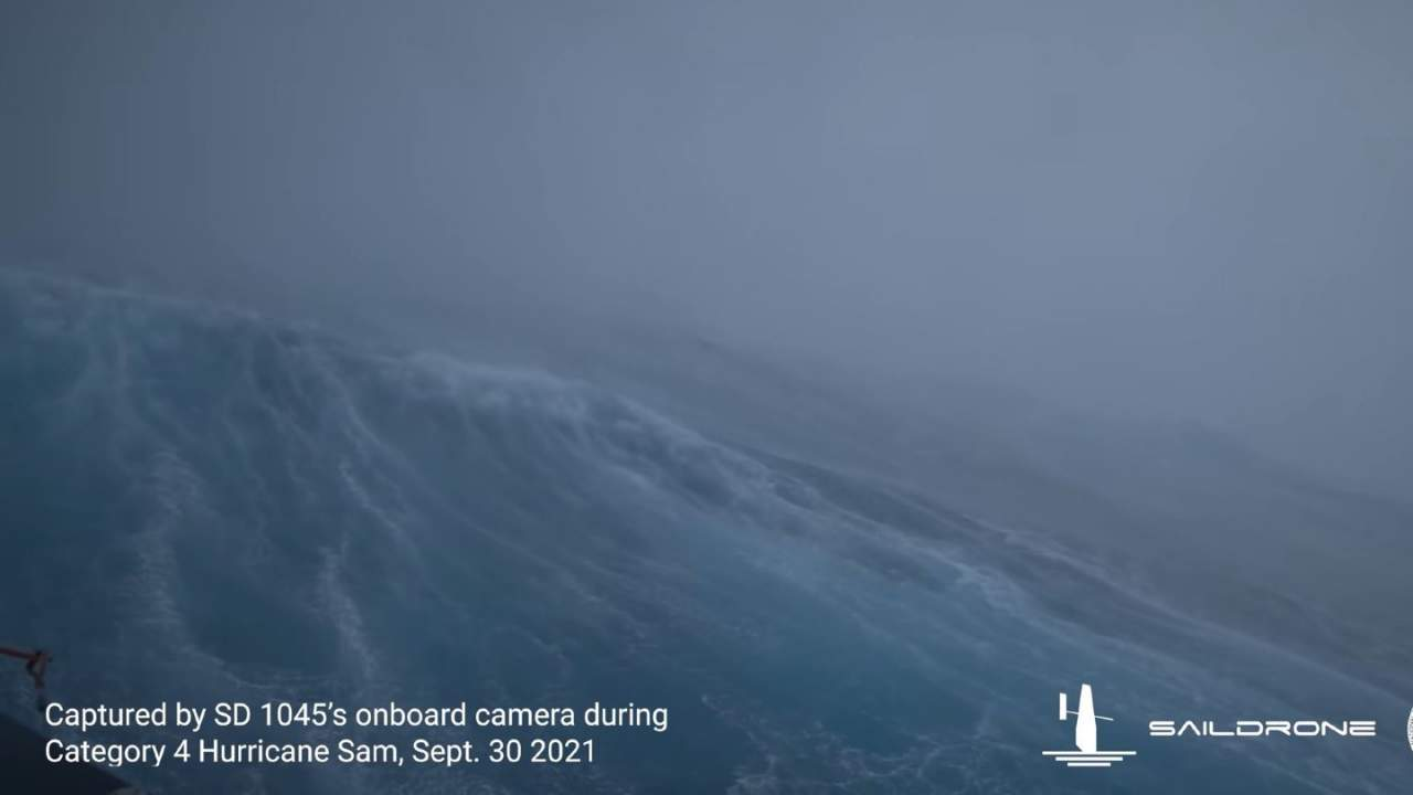 NOAA shares dramatic Hurricane Sam video recorded on ocean's surface
