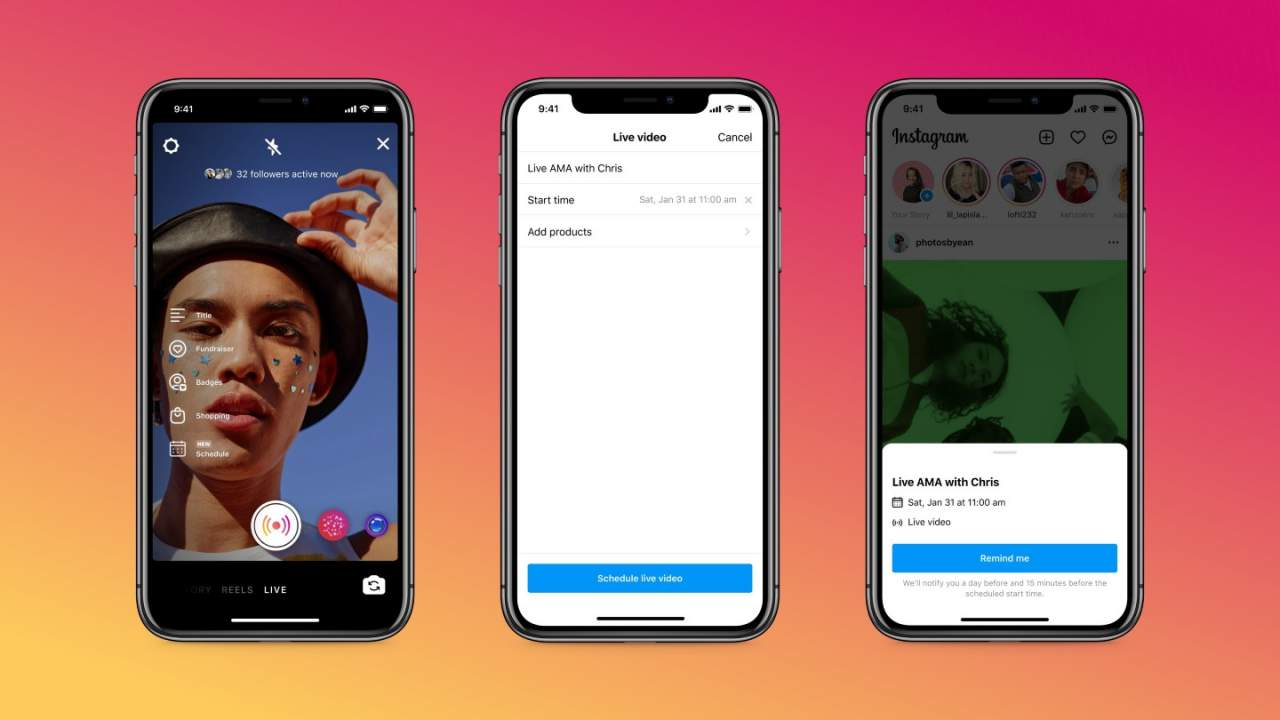 Instagram's latest live streaming feature ensures viewers show up