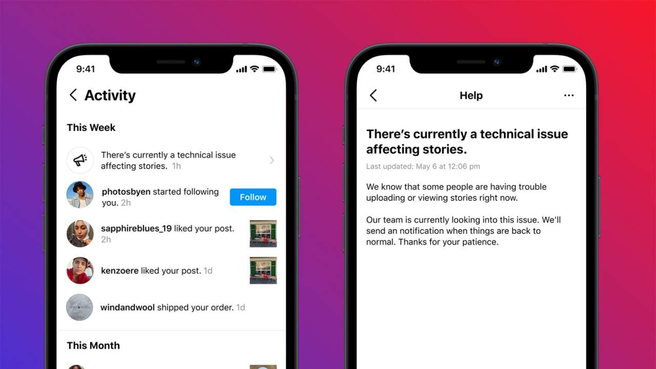 Instagram adds a feature that warns users when something goes wrong