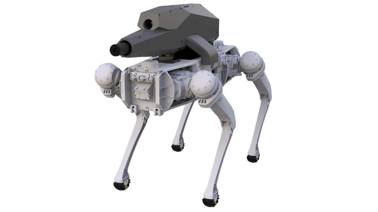 Robotic dogs get their own remote-controlled night vision sniper rifle