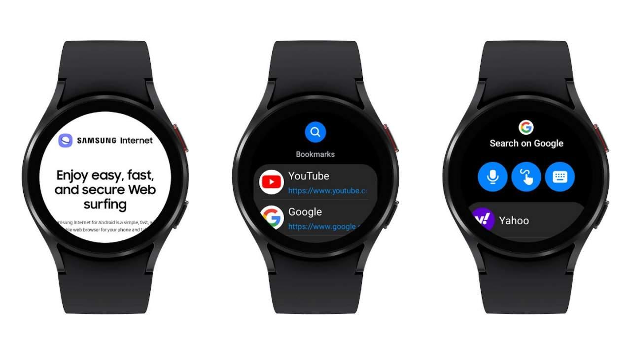Galaxy Watch 4 now has Samsung's Internet web browser