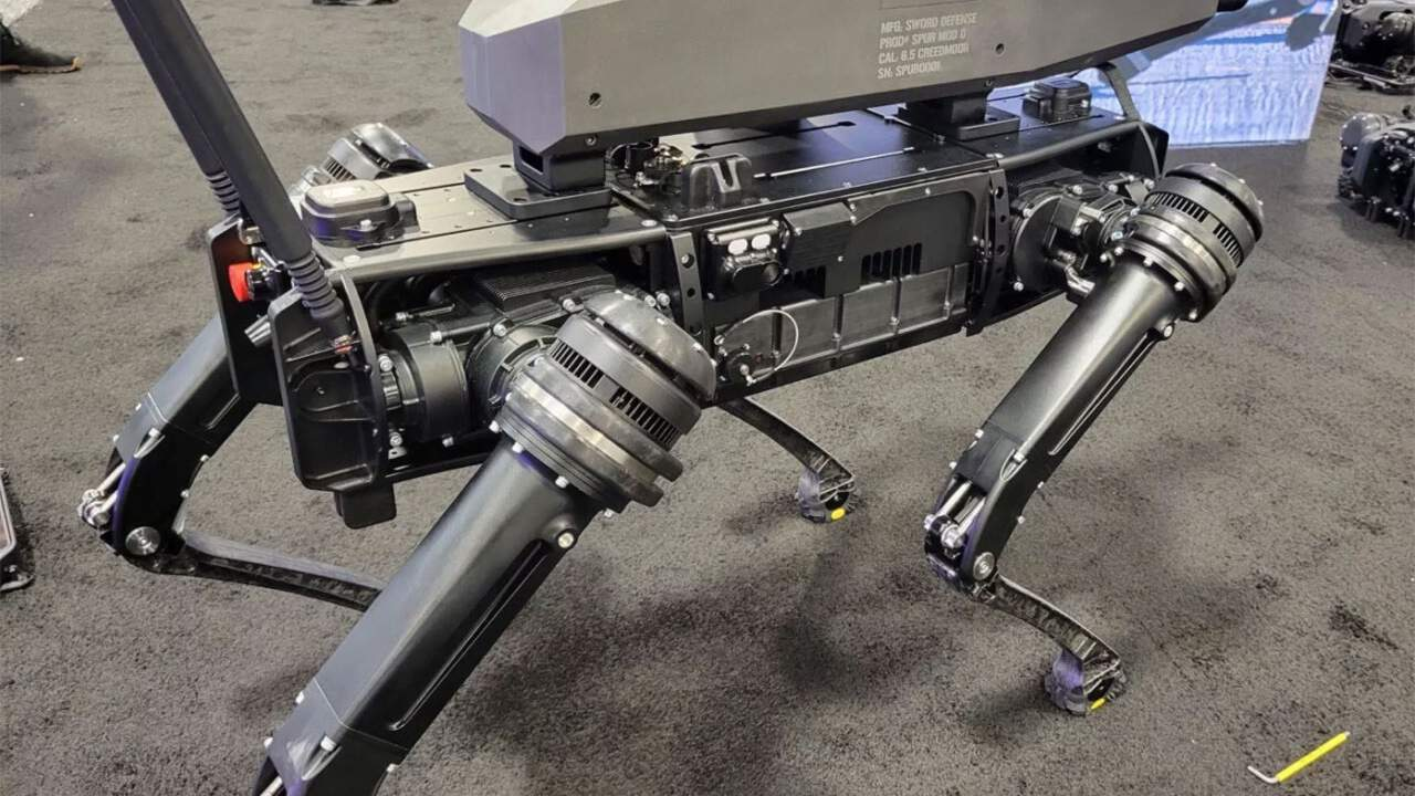 Quadruped robot gets fitted with a precision rifle