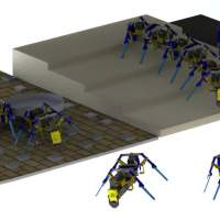 Ant-like swarm robots built by a researcher at Notre Dame