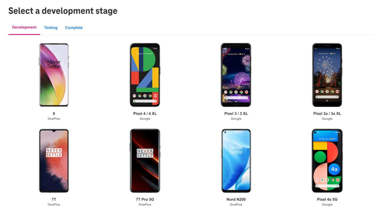 T-Mobile Android 12 update lineup officially revealed