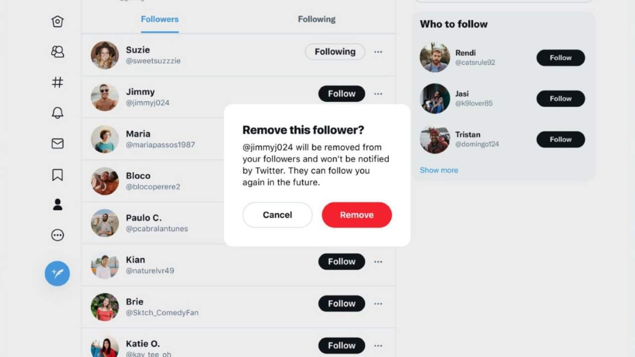 Twitter users can now quietly remove followers without blocking them